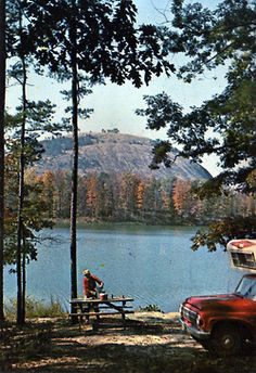 "Wish You Were Here 06 |Stone Mountain Lake, Georgia. ""The Family Camp Grounds accommodate both tents and trailers on the shore of beautiful Stone Mountain Lake. All modern conveniences, running water, and electricity are available. This is truly the fisherman's paradise."" 