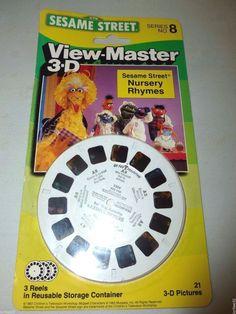 SESAME STREET VIEW-MASTER 3-D SERIES # 8 NURSERY RHYMES 3 REELS#viewmaster