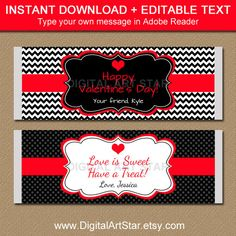 EDITABLE Valentines Day Chocolate Bar Wrappers by digitalartstar Valentines Day Chocolates, Valentines Day Party, Valentine Gifts, Chocolate Bar Wrappers, Candy Bar Wrappers, Chocolate Bars, Brochure Paper, Thing 1, Printable Paper