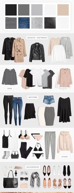 Capsule Wardrobe with Soft Pink