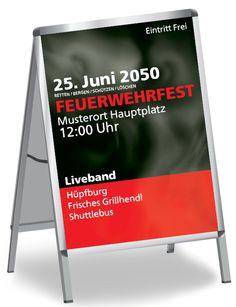 DIN A0, DIN A1, DIN A2 und DIN A3 Plakate und Poster selbst gestalten #poster #feuerwehr #feuerwehrfest #tatütata #alarm