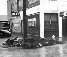 Traces of Texas    Aftermath of a storm in Hutto, 1957.