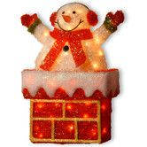 Found it at Wayfair - Tinsel Snowman on Chimney Christmas Decoration with 40 Clear Lights