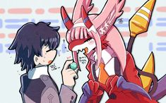 Zero Two, Darling In The Franxx, Know Your Meme, Best Couple, Concept Art, Pokemon, Geek Stuff, Dragon, Animation