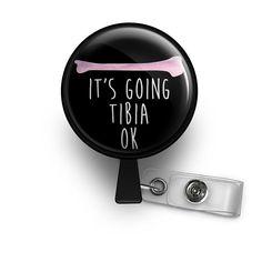 It's Going Tibia OK Retractable ID Badge Reel