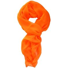 LibbySue-Silk Blend Oblong Chiffon Scarf in Solid Colors of Orange ($12) ❤ liked on Polyvore featuring accessories, scarves, chiffon scarves, orange shawl, chiffon shawl, oblong scarves and orange scarves