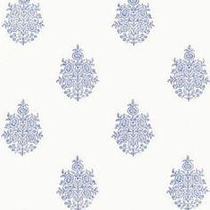 Schumacher Asara Flower Delft Wallpaper