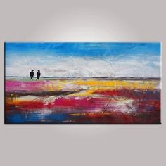 Abstract Painting Birds Living Room Decor by on Etsy Art Paintings For Sale, Modern Art Paintings, Colorful Paintings, Original Paintings, Paintings Online, Canvas Paintings, Contemporary Artwork, Online Painting, Original Art