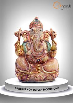 An aura of serenity radiates throughout your home with the spiritual presence of a Moonstone Ganesha idol.