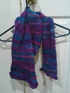 hat/scarf. hat part 22 inches around scarf part 45 inches long wraps around once on grown up maybe twice for a kid.