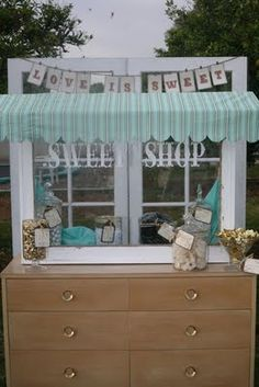 Cute idea for candy table!  Love it!