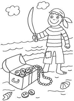 ausmalbilder piraten   Ausmalbilder   Pinterest