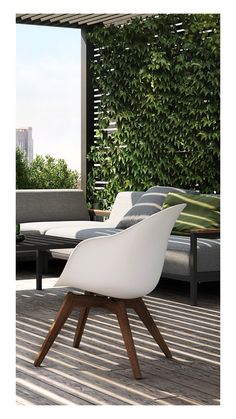 The Adelaide outdoor chair erases the border between indoor and outdoor furniture. Solid eucalyptus legs and a polypropylene seat make it weather resistant and very easy to maintain while also giving the Adelaide a stylishness not often seen with outdoor furniture. With low, angled legs and great comfort, this outdoor lounge chair will make afternoon tea on the patio a lot more elegant.
