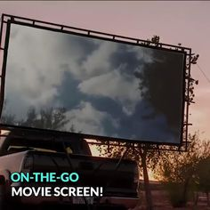 Outdoor Big Screen - Watching your favorite TV show or movie on freshly cut grass is an experience that will make you fe -