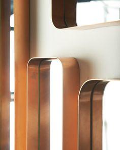 mirrordeco.com — Kelly Rectangular Mirror - Copper Frame, Medium H:76cm
