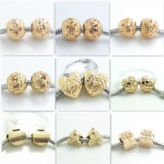 European Charm Beads Fit Necklace Bracelet jewelry – Common Shopping