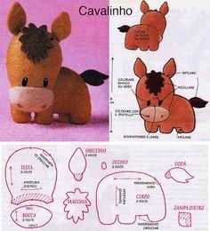 DIY Kawaii Felt Horse / Foal with FREE Sewing Pattern / Template