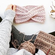 Knitted Earwarmer Pattern/ Twist Turban Style Headband/ Intermediate Knitting Pattern/ Headwrap Knitting Pattern/ The Vanessa Earwarmer Hand Knitting Yarn, Easy Knitting Patterns, Lace Knitting, Crochet Patterns, Crochet Headband Pattern, Knitted Headband, Thread Crochet, Crochet Yarn, Yarn Shop