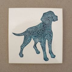 Textured Ceramic Wall Tile With Hanger 16 00 Free Dachshund Silhouette Aylesllim Designs Pinterest