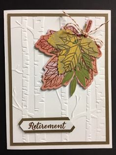 Here's another card I made using the September 2017 Paper Pumpkin kit. I am having a lot of fun with these leaf clusters. I put the leaf...