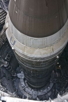 Looking down at a Titan II Missile.