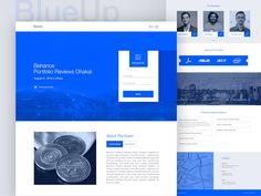 BlueUp- Event Landing Page by Sultan Mahmud #Design Popular #Dribbble #shots