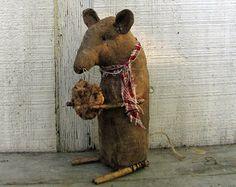 Mouse  Primitive Mouse   Primitive Art Doll by cavecreekprimitives, $18.50