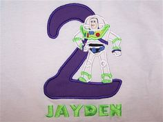Personalized Custom Buzz Lightyear Inspired by HoppersEmbroidery, $24.00