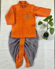Kids Dress Wear, Dresses Kids Girl, Kids Wear, Ethnic Wear For Boys, Kids Indian Wear, Kids Clothes Refashion, Baby Boy First Birthday, Boys Style, Sherwani