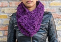 "Grape ""Like Butta"" Cowl Neck Warmer by HeavAncyDesigns on Etsy"