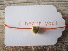 "Freundschaftsbänder ""I heart you"" Armband // Friendshipbracelet ""i heart you"" bracelet by -A-Tag! DaWanda.com"