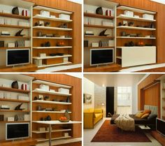 """Check out our site for even more relevant information on """"murphy bed plans queen"""". It is actually a great location to read more. One Room Flat, Fold Up Beds, Hideaway Bed, Resource Furniture, Home Instead, Modern Murphy Beds, Murphy Bed Plans, Comfy Sofa, Bed Wall"""
