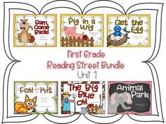 At your request, I've bundled the Reading Street Unit 1 stories (2008 series).   This product is specific to First Grade.  The following titles are included:Sam, Come BackPig in a WigThe Big Blue OxA Fox and a KitGet the EggAnimal ParkPurchasing this bundle will save you $8.50.