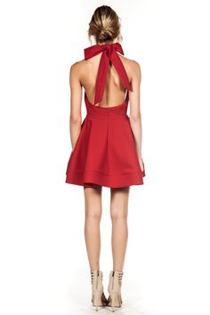 Alice Bow Dress - Red