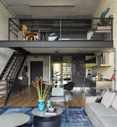 25 Amazing Interior Design Ideas For Modern Loft - GODIYGO.COM Loft is an extra space that looks like a second floor, but it is not eligible enough to be said … Design Loft, Design Case, Design Design, Attic Design, Condo Interior Design, Condo Design, Sweet Home, Loft Interiors, Modern Interiors