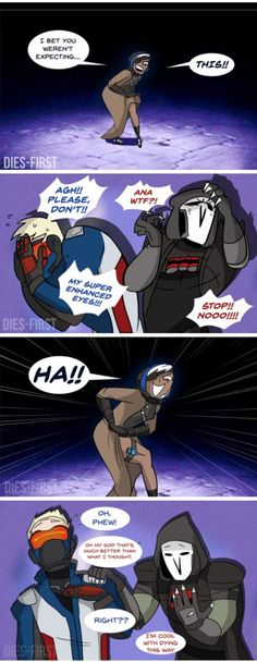 Very funny! #reaper #soldier76 #overwatch