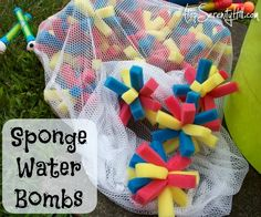 Make your own water bombs out of sponges!