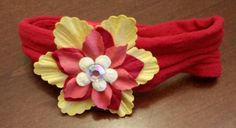Baby Girl HeadbandRed and Yellow by LoveFromAshley on Etsy
