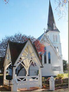 St Andrews Anglican Church, Cambridge, North Island, New Zealand. Still in regular use.