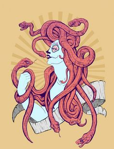 Snake hair that flows down?