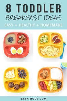 Healthy Toddler Breakfast, Detox Breakfast, Healthy Toddler Meals, Toddler Lunches, Healthy Kids, Kids Meals, Morning Breakfast, Breakfast Ideas For Toddlers, Toddler Food