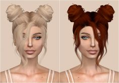 Leah Lillith Nevaeh Hair Retexture at Kenzar Sims via Sims 4 Updates Check more at http://sims4updates.net/hairstyles/leah-lillith-nevaeh-hair-retexture-at-kenzar-sims/