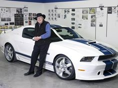 Carroll Shelby, most famous for creating high-performance road and racing cars bearing his name, died Thursday in Dallas, Texas. He was 89 years old.- Carroll Shelby with the 2011 Shelby Defender 90, Land Rover Defender, Carroll Shelby, Ford Mustang Gt, Ford Svt, Mustang Cobra, Ford Fairlane, Shelby Car, Shelby Gt500