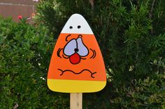 Halloween Candy Corn Yard Art