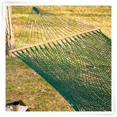 Twin Oaks SilkSpun XL Spruce Rope Hammock