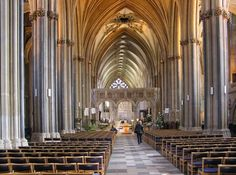 Nave of Bristol Cathedral