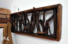 Wieszak na ubrania z drewna i gałęzi rustykalny ecco Rabka-Zdrój - image 1