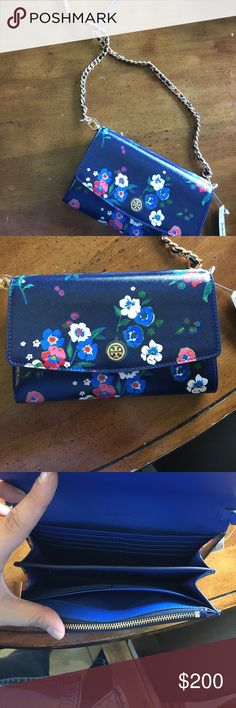 Tory Burch side bag. Never worn with tags tory Burch floral side bag. Tory Burch Bags Crossbody Bags