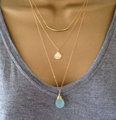 Gold layering Necklaces, simple and clean