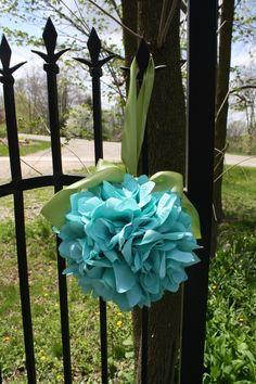 Tiffany Blue Rose Pomander. $15.00, via Etsy.